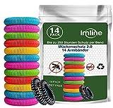 Mückenschutz Armband (14 Stück) Mückenabwehr Armbänder zum Schutz gegen Mücken Camping Anti Mückenarmband