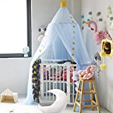 NIBESSER Baldachin Betthimmel für Kinder/Babys 100% Polyester Gewebe Romantischer Betthimmel Moskitonetz Kinderbett für Kinderzimmer Hohe 240cm