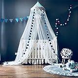 Moskitonetz, Betthimmel Deko Baldachin Moskitonetz Kinder Prinzessin Spielzelte Dekoration für Kinderzimmer, mit Sternen Dekoration 60 * 300cm (Blau)